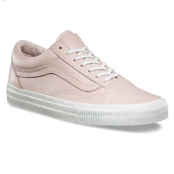 Vans Pink Leather Old Skool Sneakers